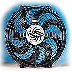 "Flex-a-lite Syclone S-Blade Electric Fan 2,500 CFM Puller 16/"" Dia Single 398"
