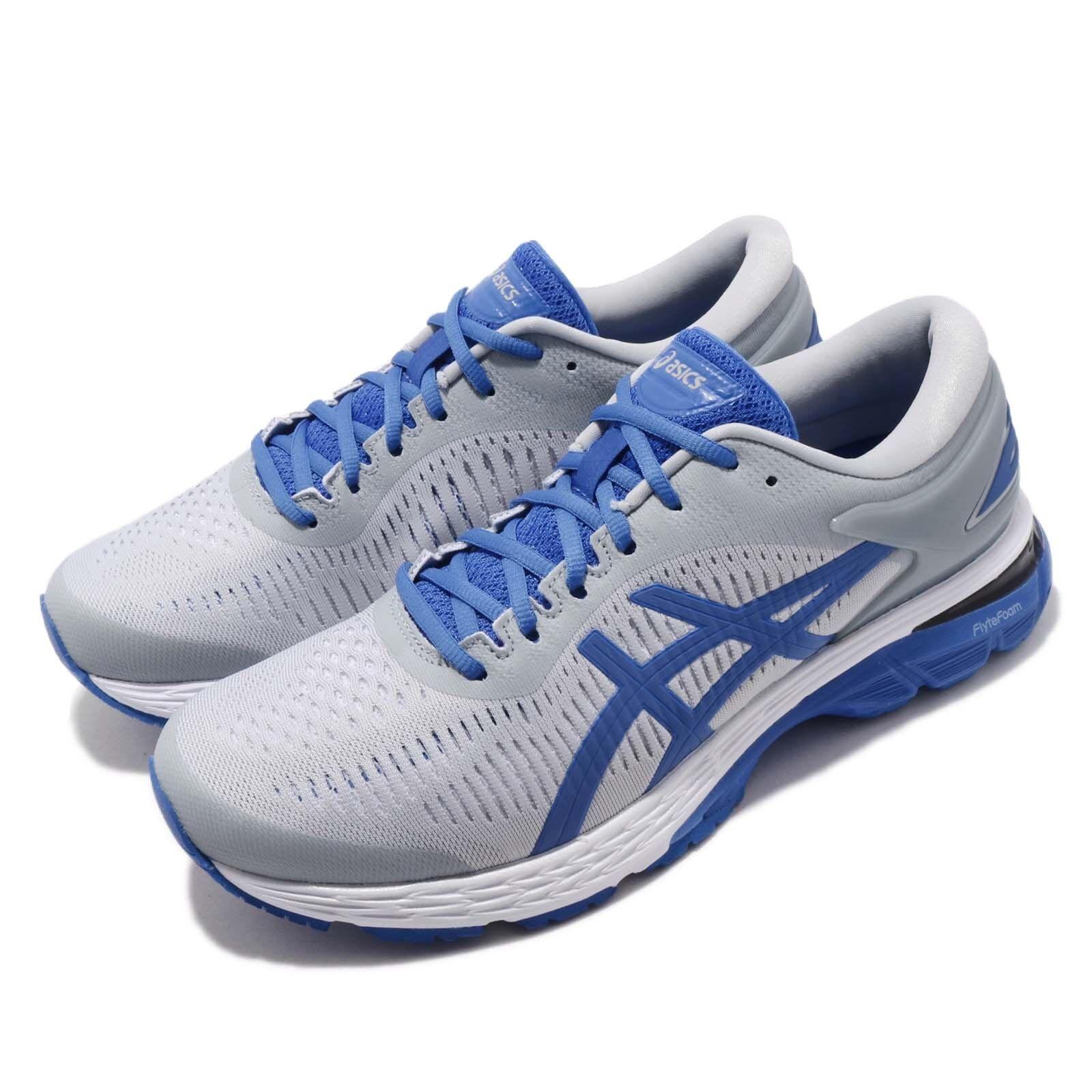 Asics Gel Kayano 25 Lite mostrar gris Azul Hombres Para Zapatos Para Correr Zapatillas 1011A204-020