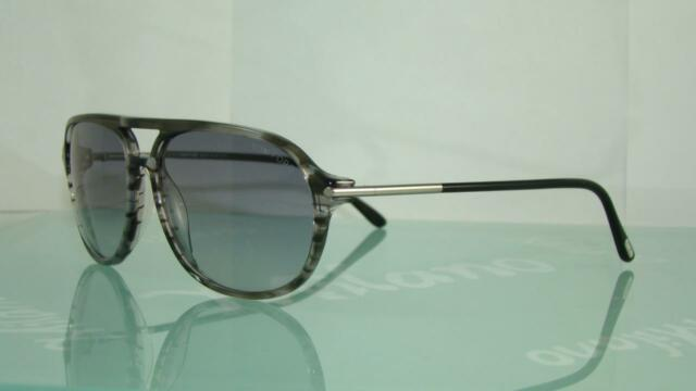 d5cbaee7145 Tom Ford John TF 255 20n Gradient Grey Aviator Sunglasses Size 60 ...