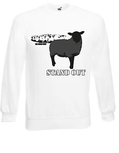 Stand Out Or fade Out Black Sheep Individual Jumper Sweatshirt Sweats Top AF05