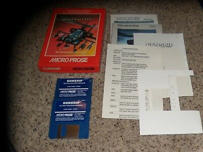 """Confident Gunship Atari St Program On 3.5"""" Disks With Box And Pictured Items Computers/tablets & Networking Other Computer Software"""
