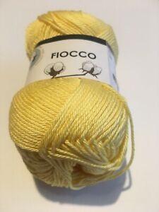Dettagli su Filati maglia gomitoli 100% Cotone uncinetto 2,5 giallo