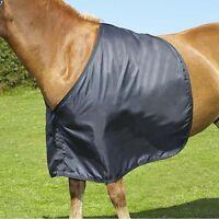 Satin Anti-Rub Vest Bib Shoulder Guard Black Pony Cob Horse Prevent Hair Loss