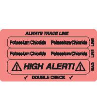 Three-part Piggyback Labels Potassium Chloride 250 Roll on Sale