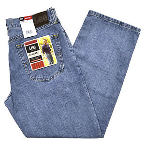 Lee-Jeans-Mens-Relaxed-Fit-Worn-Light-Straight-Leg-Stonewashed-Denim-New-2055549