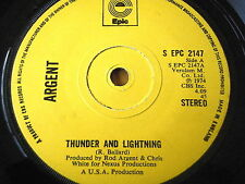"ARGENT - THUNDER AND LIGHTNING  7"" VINYL"
