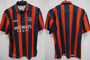 Details about 1993-1994 Glasgow Rangers FC Football Jersey Shirt Away Mcewan's Lager Adidas M