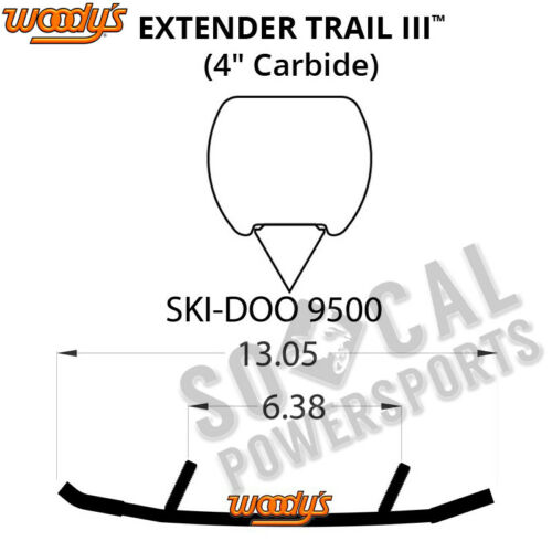 "SDI 2006-2008 Woody/'s Extender III 4.0/"" Carbide Ski Doo MX Z Renegade 600 H.O"