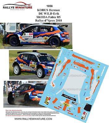 Skoda Fabia r5 yacco Bouffier Ypres Rally 2018 1:43 Ixo Special Edition nuevo