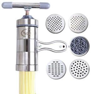 Kitchen-Noodle-Maker-Machine-Stainless-Steel-Pasta-Fruit-Juicer-Press-Spaghetti