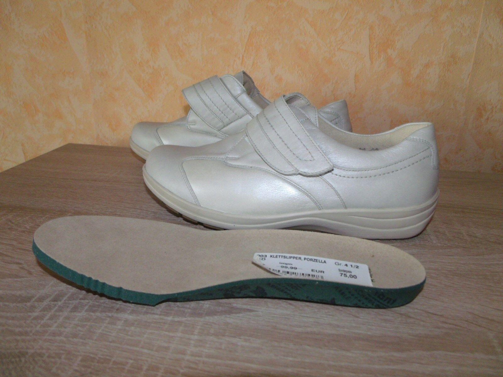 Foresta alfiere Velcro Slipper 4,5 Per Alluce NUOVO taglia 4,5 Slipper 37,5 H IN PORCELLANA & Nappa Pelle ecf667