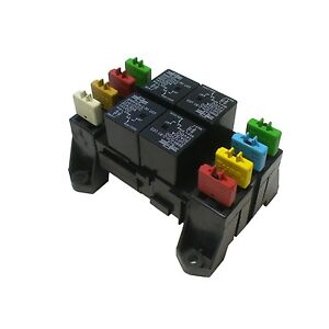 atc ato blade fuse and mini relay block panel holder 12v image is loading atc ato blade fuse and mini relay block