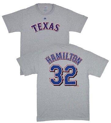 Fanartikel Baseball & Softball Mlb Baseball T-shirt Texas Rangers Josh Hamilton 32 Grau Jersey Trikot Neueste Technik
