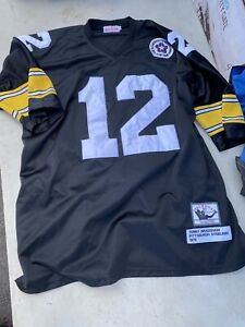 12-Terry-Bradshaw-Pittsburgh-Steelers-Throwback-Men-Jersey-Size-54-Bicentennial