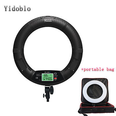 Yidoblo FE480II 96W LED Ring Beauty Diva Light For Video/Studio/Makeup w/Bag US