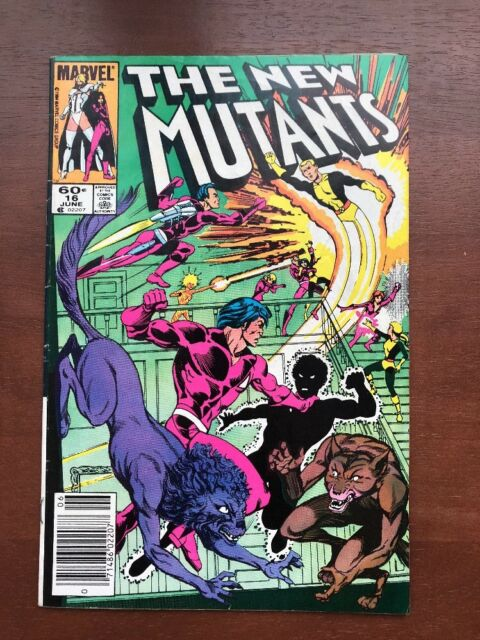 The New Mutants #16 (1984) 7.5 VF Marvel Key Issue 1st Warpath Newsstand Edition