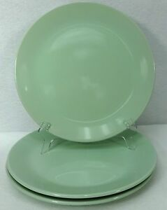 Image is loading IKEA-of-SWEDEN-china-STROSA-Light-Green-DINNER- & IKEA of SWEDEN china STROSA Light Green DINNER PLATE set of Three (3 ...