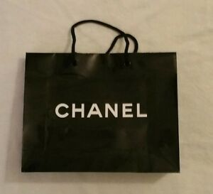 Details About Chanel Black Paper Ping Gift Bags Brand New