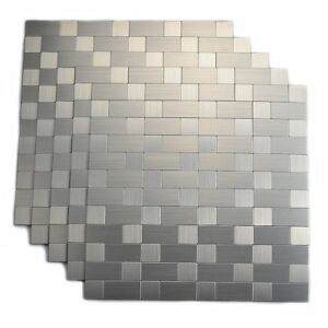 Aluminum Peel and Stick Backsplash for Kitchen No Grout Strong