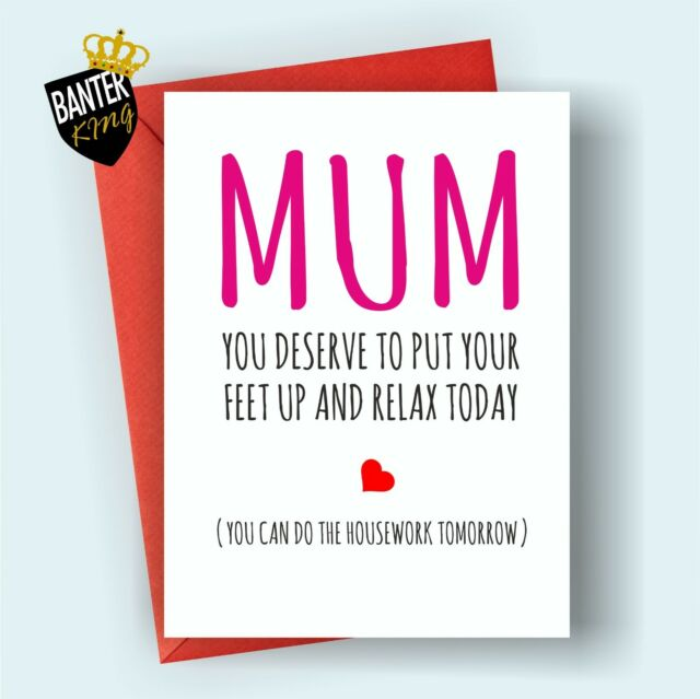 M7 Mothers Day Happy Birthday Greetings Card Mum Rude Funny Cheeky