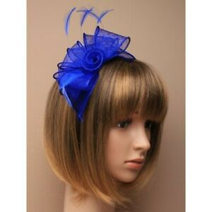 Royal-blue-fascinator-alice-hair-band-in-sinamay-with-hessian-rose-center-and