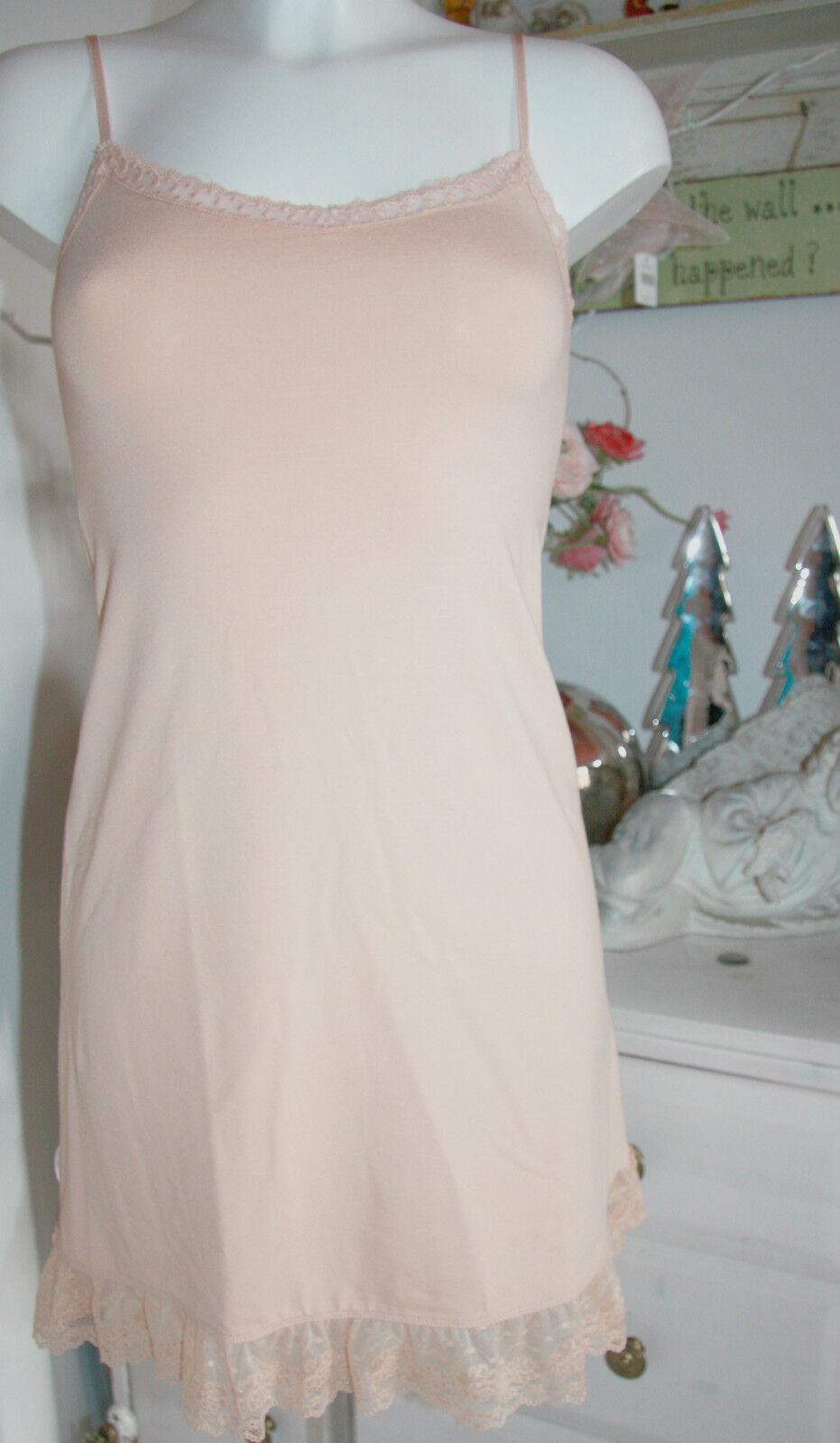 By Timo Ti Mo Träger-Kleid Dress Tunika Vintage Vintage Vintage Spitze Melon size S   Neu 243054