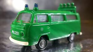 Brekina-33085-VW-T2-Police-Bus-STAU-1-87-HO-Scale