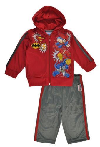 DC Friends Baby Boys Red Hoodie 2pc Pant Suit Set Size 12M 18M 24M $24.99