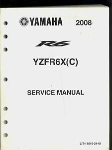 2008 yamaha r6 yzfr6x c motorcycle owners service manual lit rh ebay co uk yamaha r6 service manual 2008 manual yamaha r6 2008 portugues