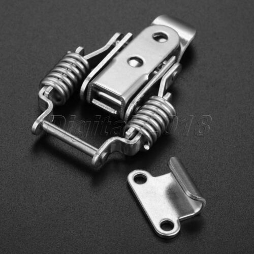 Metal Iron Drawer Latch Suitcase Cabinet Spring Toggle Lock Catch Boxes Chest