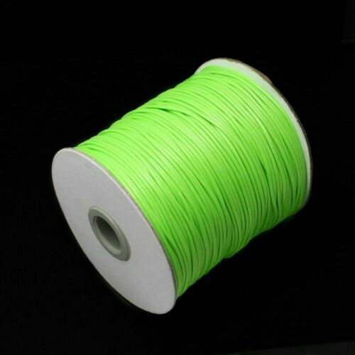 Waxed Cotton Cord Wire Beading Macrame String Jewelry DIY 1 1.5 2 mm Necklace