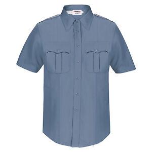 NEW Elbeco Duty Plus Officer Guard Uniform Shirt  Tan Short Sleeve Size 38