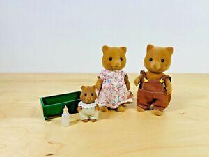 Sylvanian-Families-Slydale-Fox-Family-Slick-Velvette-Skitter-Lindy-Baby-Vintage