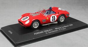 IXO-Ferrari-250-TR59-60-Le-Mans-24-h-Win-1960-Gendebien-FRERE-LM1960-1-43-NEUF