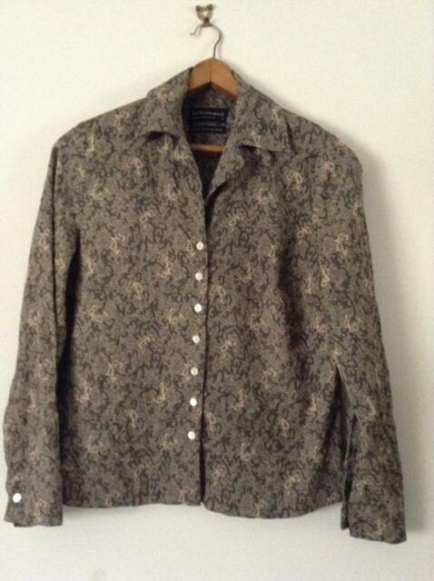 David Lawrence Bronze Viscose Shirt Sz 10 EUC BUY Any 5 Items = Free Post