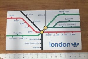 Adidas Originals White Blue Sticker London Trefoil Tube Map ... on