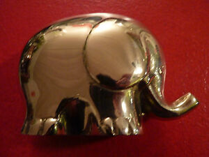 Collectible-Lovely-Lucky-Elephant-Solid-Brass-Paperweight-Wow