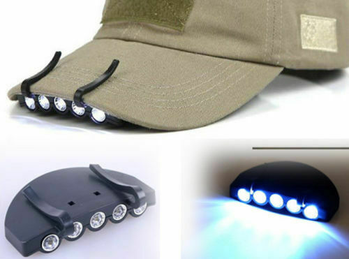 Outdoor 3LED Clip On Head Cap Hat Light Head Lamp Torch Fishing Hunting Gear