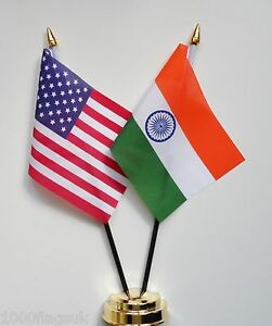 United-States-of-America-amp-India-Double-Friendship-Table-Flag-Set