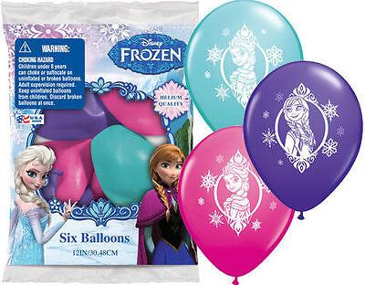 12 Frozen Princess Anna Elsa Latex Balloons birthday Favors Prizes decorations
