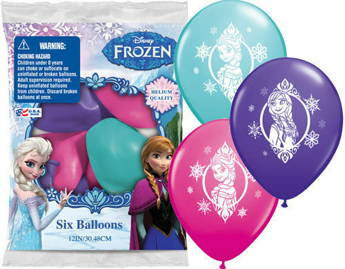 12 Frozen Princess Anna Elsa Latex Balloons birthday Favors Prizes decorations
