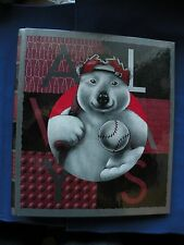 "Coca-Cola Baseball Bear 1"" 3 ring binder Eurobinder brand never used"