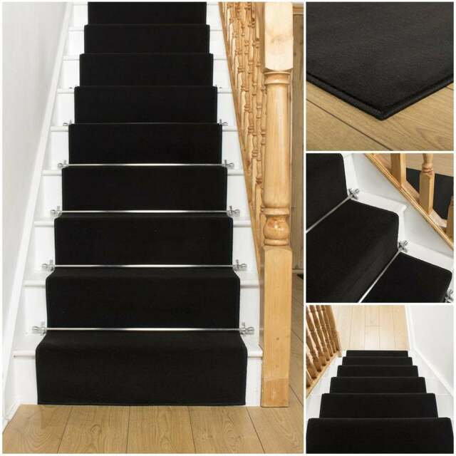 Replacing Carpet With A Stair Runner: Stair Carpet Runner For Staircase Modern