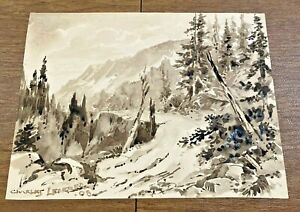 Charles Lederer Western Colorado Rocky Mountains Drawing Wacker Provenance Wow!