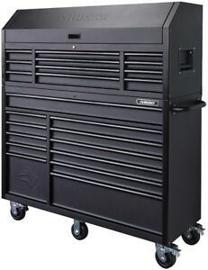 Husky Tool Cart >> Details About Husky Tool Storage Cabinet Set 23 Drawer Chest Rolling Wheels Steel Black Matte