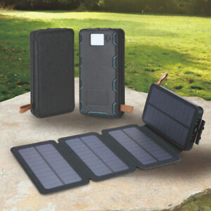 Portátil Plegable con Panel Solar Cargador Usb Doble Puerto LED...
