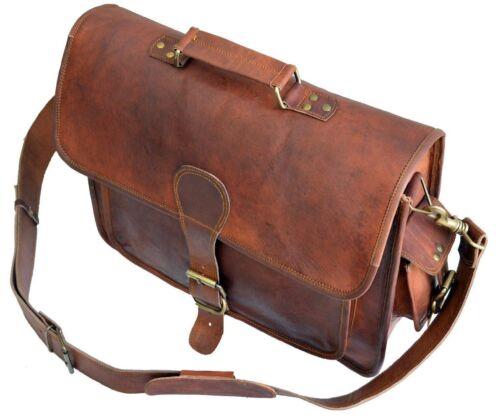 Vintage Men/'s Genuine Leather Briefcase Messenger Shoulder Bag Laptop Business