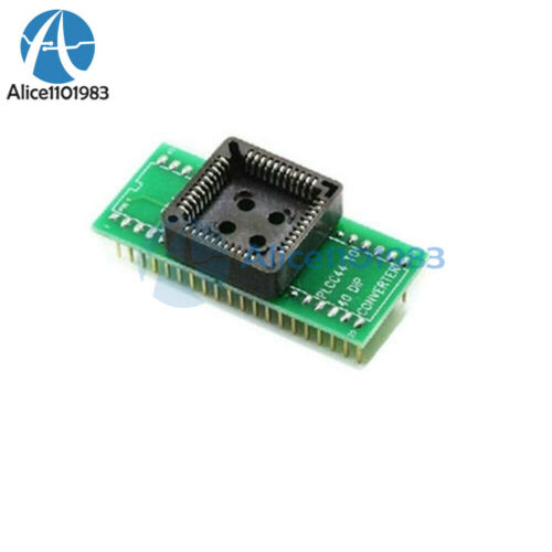 PLCC44 to DIP40 EZ Programmer Adapter chip Simple Socket Universal Converter