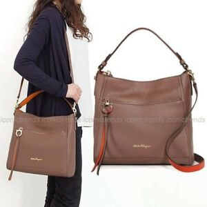 Image is loading NWT-Salvatore-Ferragamo-Ally-Hobo-Crossbody-Leather-Bag- 2ff07d3a849a7
