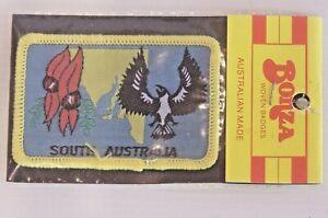 VINTAGE-SOUTH-AUSTRALIA-EMBLEMS-EMBROIDERED-SOUVENIR-PATCH-WOVEN-CLOTH-SEW-BADGE